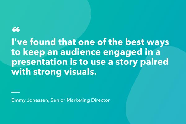 tell a story interactive presentation idea