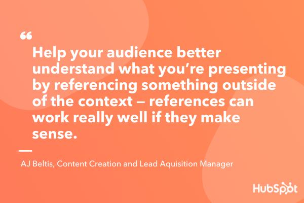 compare content to your passions interactive presentation idea