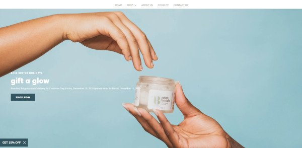 basebutter holiday homepage