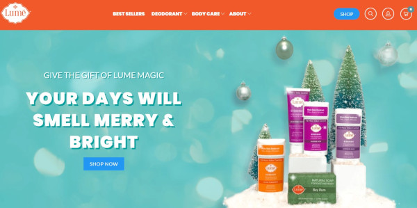 lume holiday homepage