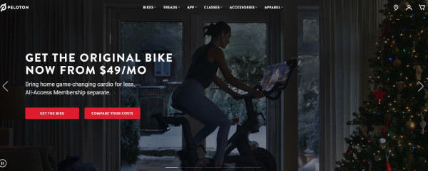 peloton holiday homepage