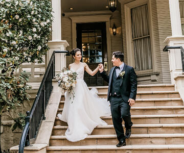 Bride & Groom at Sterling Hotel by Wedgewood Weddings