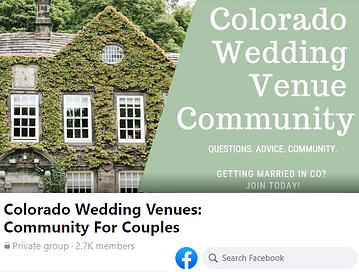 David Gass Photography shoutout on Colorado Wedding Venues Facebook Group