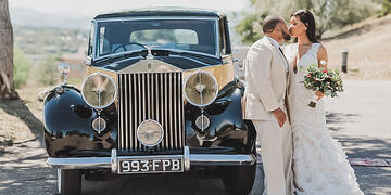Retro Car for their Grand Exit at Brittany Hill by Wedgewood Weddings