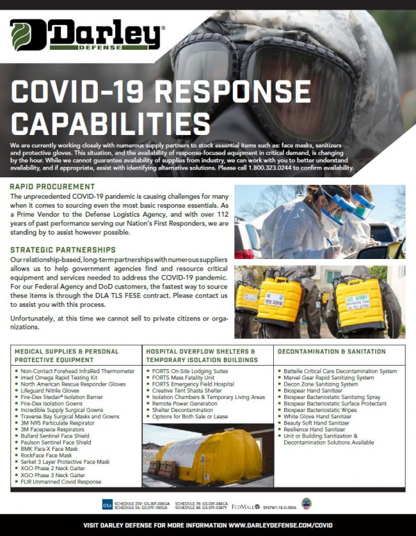 Darley Defense COVID-19 Response Capabilities