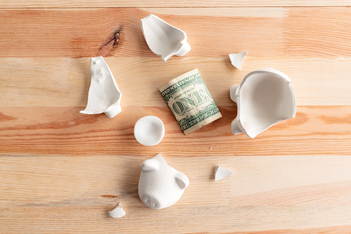 emergency fund cracked open