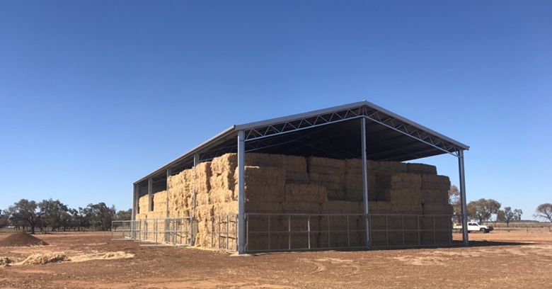 What's the best way to store hay?
