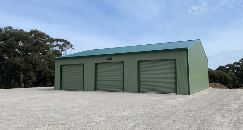 A new equipment shed for Wallaby Hill