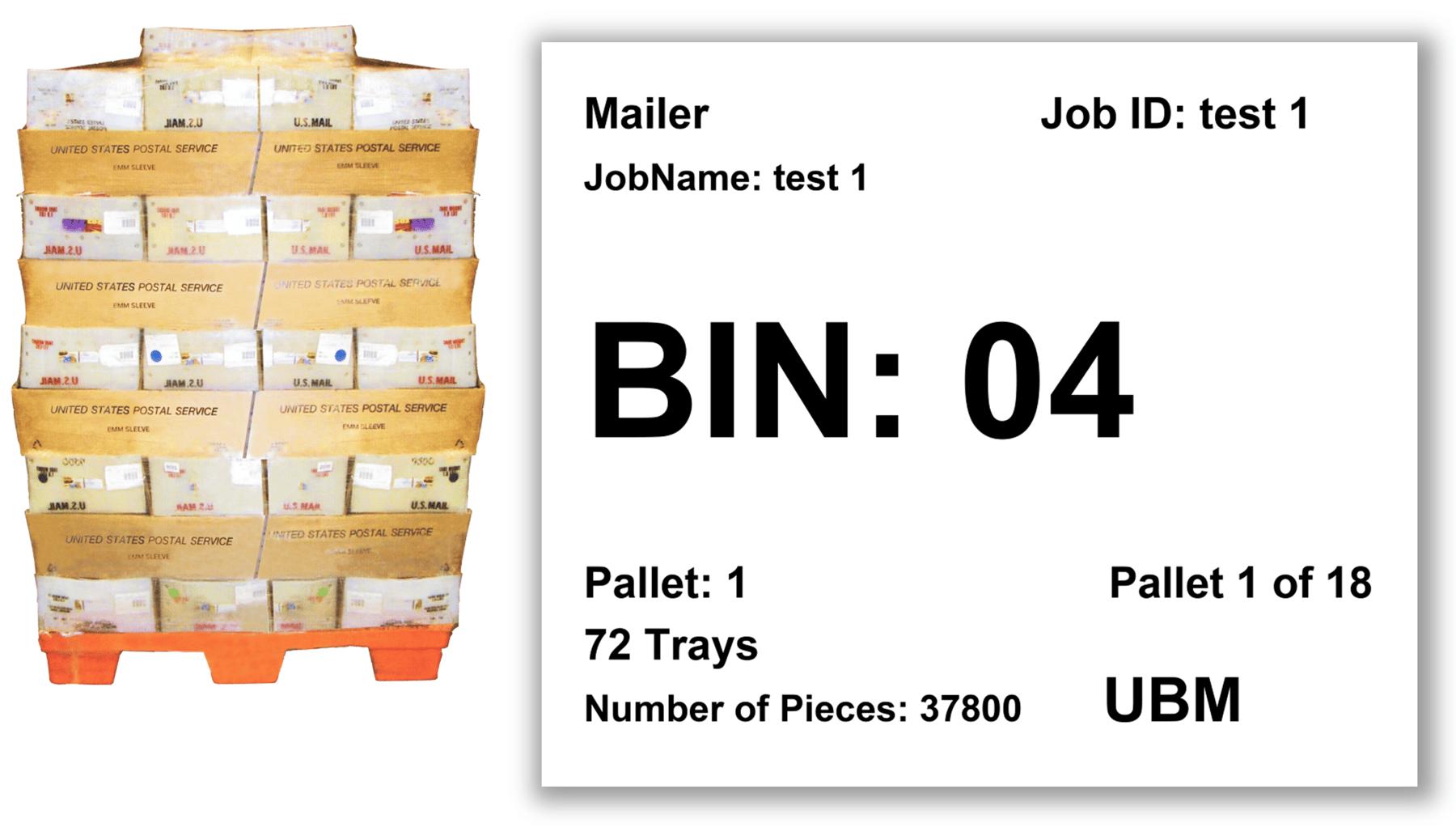 USPS Pallet Placard Bulk Mailing Software Solution