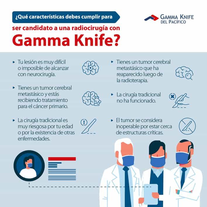 infografia que factores debes cumplir para ser candidato a gamma knife