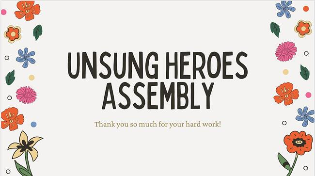 Thanking Our Unsung Heroes