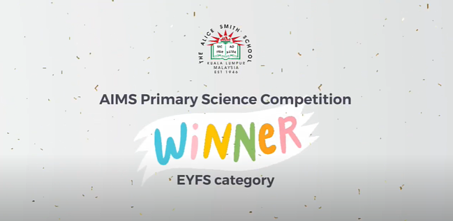 EYFS student wins AIMS Science competition👏