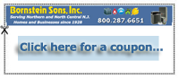 Download a coupon for your air conditioning repair service by Bornstein Sons NJ