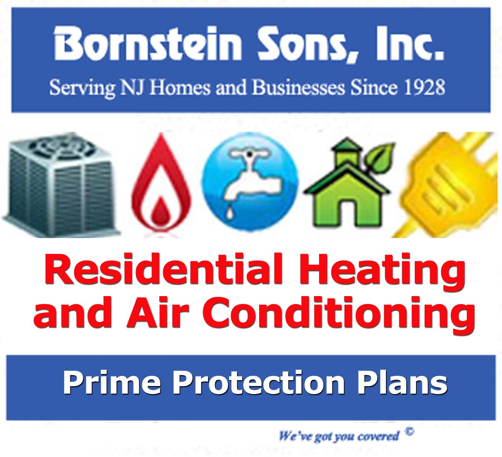 Save on heating and air conditioning repairs with Bornstein Sons Prime Protection Plan