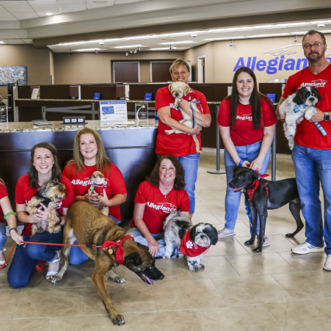 Allegiance Employees With Dogs Cropped