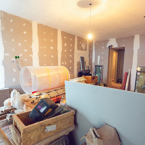 Working process of renovating room