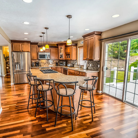Kitchen Island and Barstools