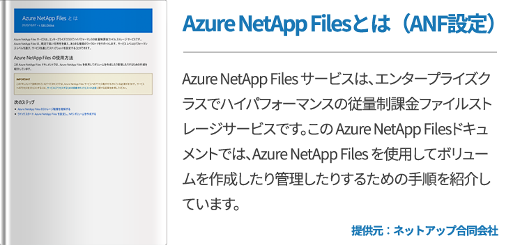 Azure NetApp Filesとは(ANF設定)