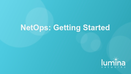 NetOps: Getting Started
