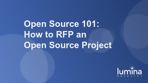 Open Source 101: How to RFP an Open Source Project