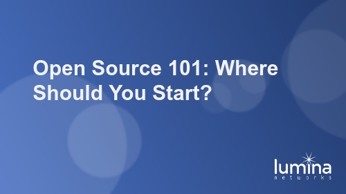 Open Source 101: Where Should You Start?