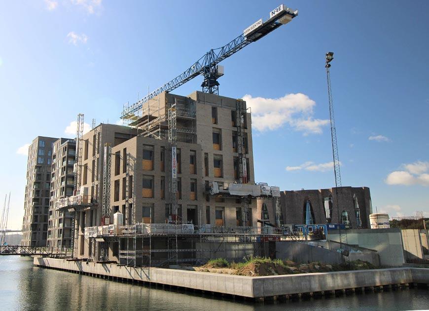 Wils A/S har murerentreprisen på Havneøen i Vejle