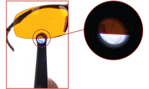 Yellow lens protection