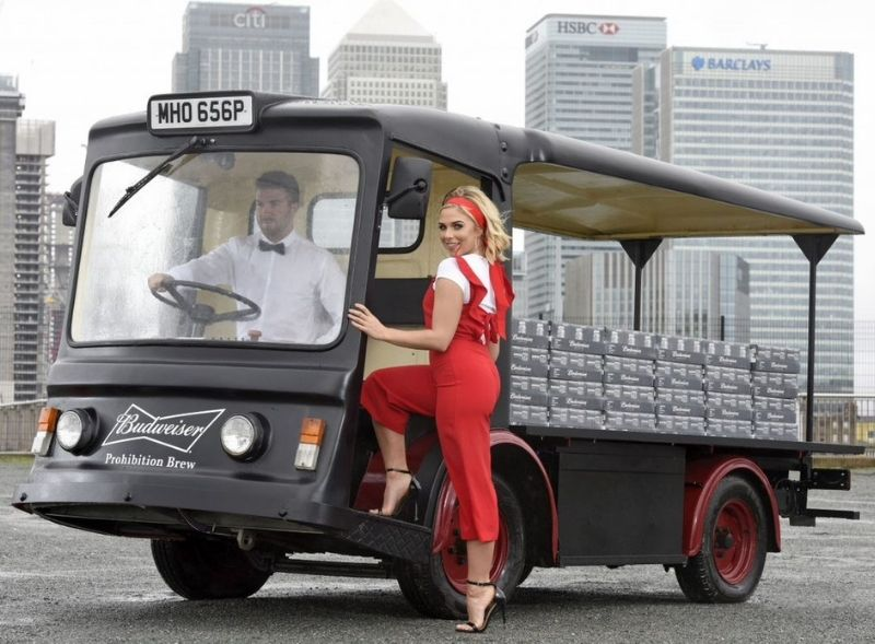 Budweiser Electric Milk Float Hire - brand activation campaign