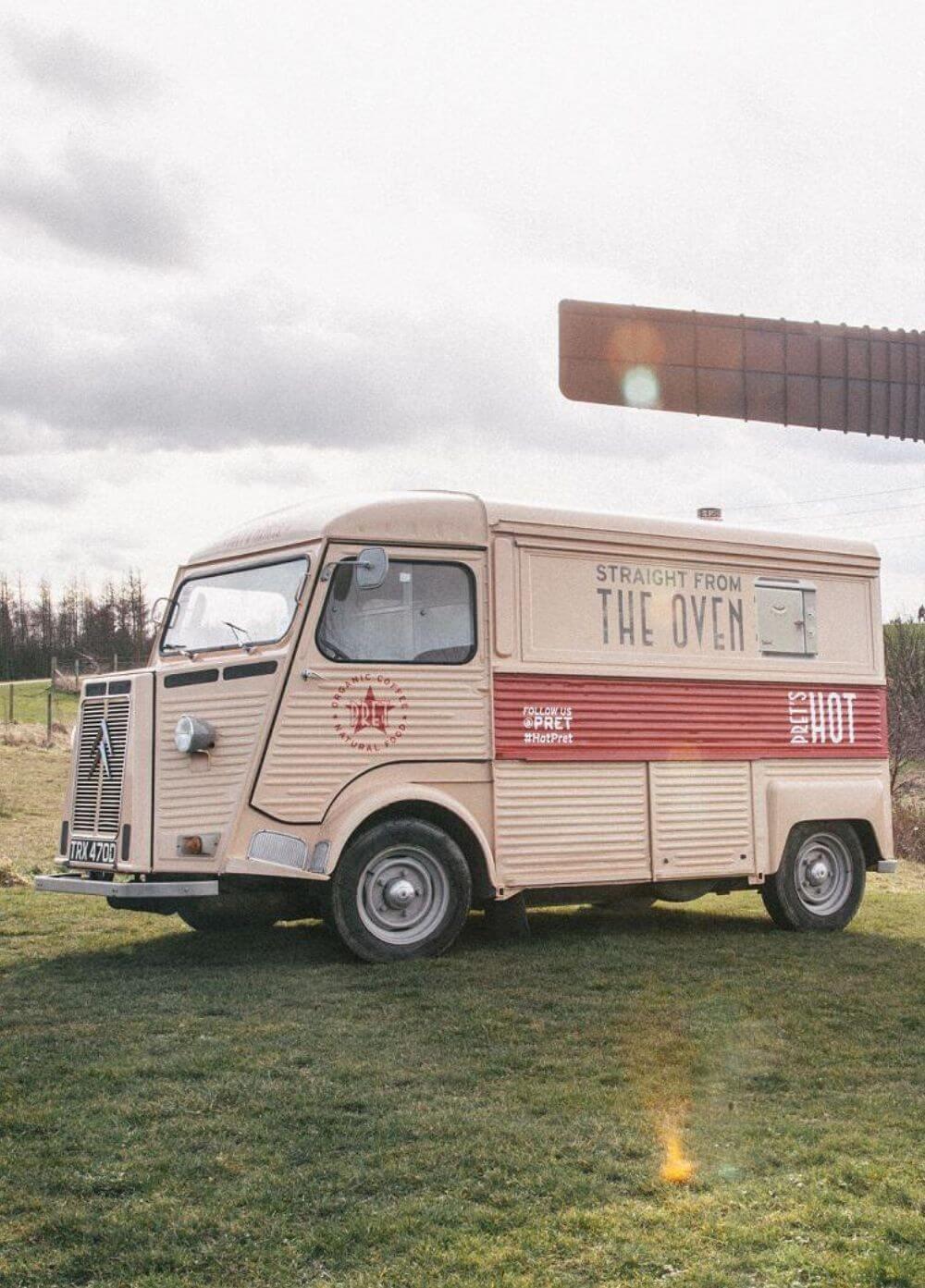 Promotional vehicle hire - H0van for Pret a Manger