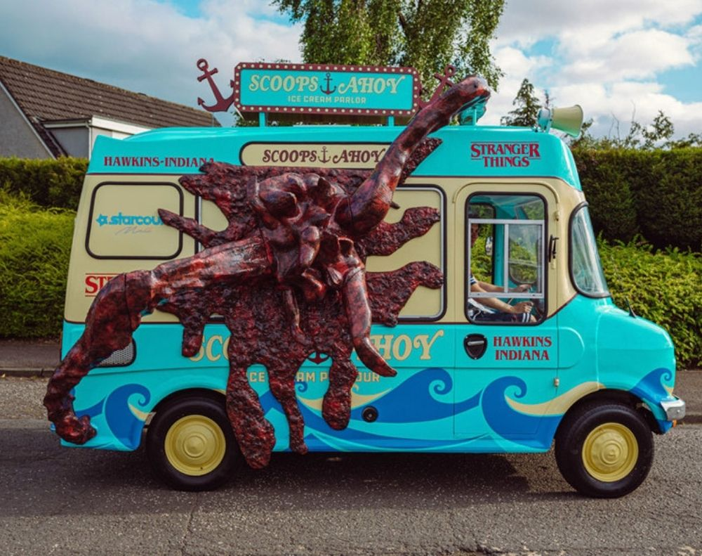 Stranger Things Ice Cream Van - Promotional Vehicle Hire
