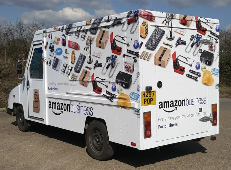 Amazon Wrapped Vehicles