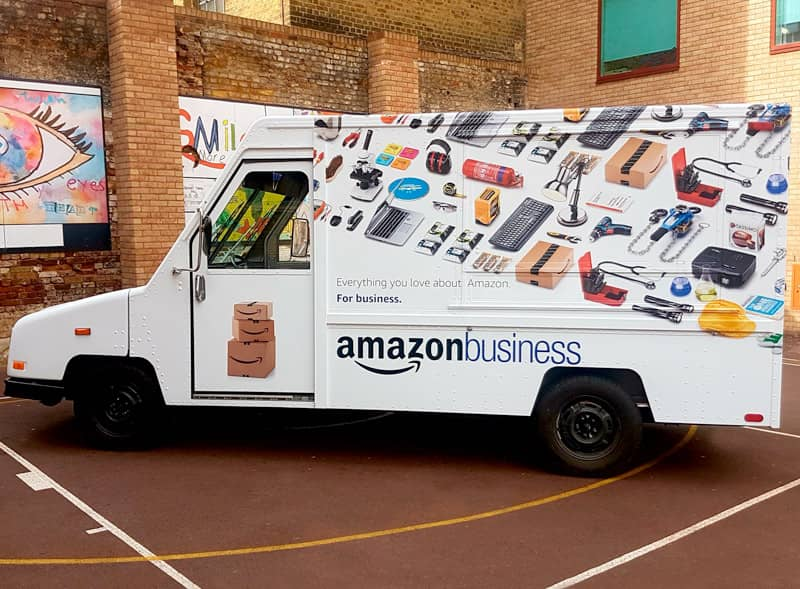 Amazon Wrapped Truck