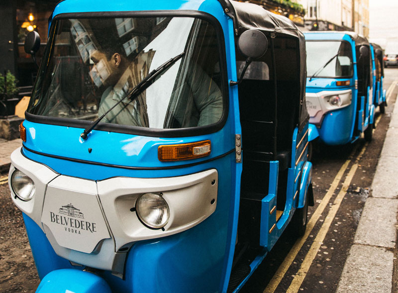 Belvedere Branded Tuktuk