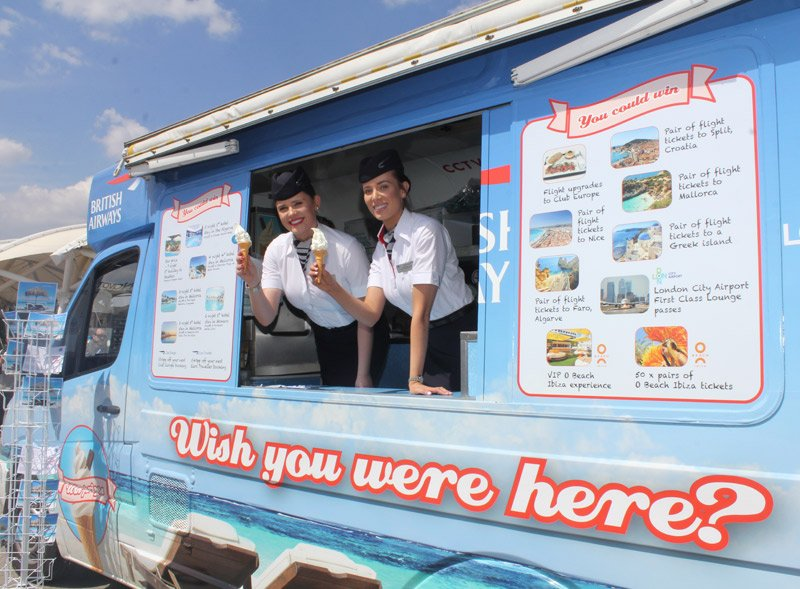 British Airways Ice Cream Van
