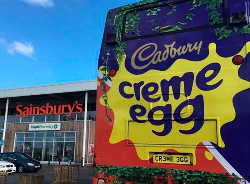 Creme Egg Bus wrap