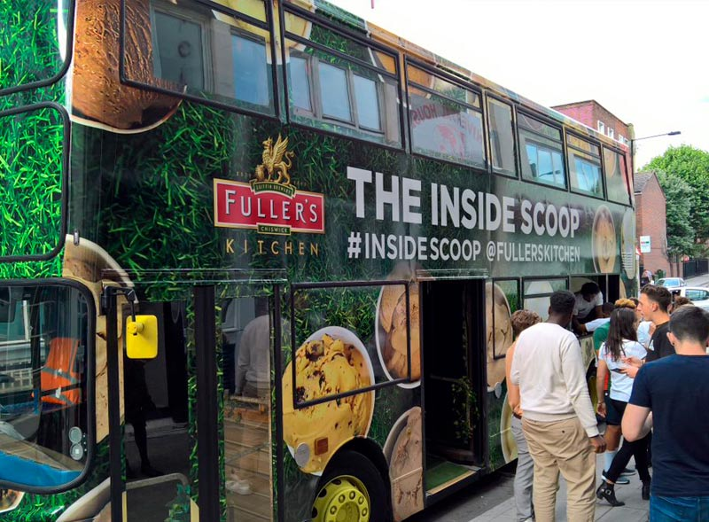The Inside Scoop Branded Bus