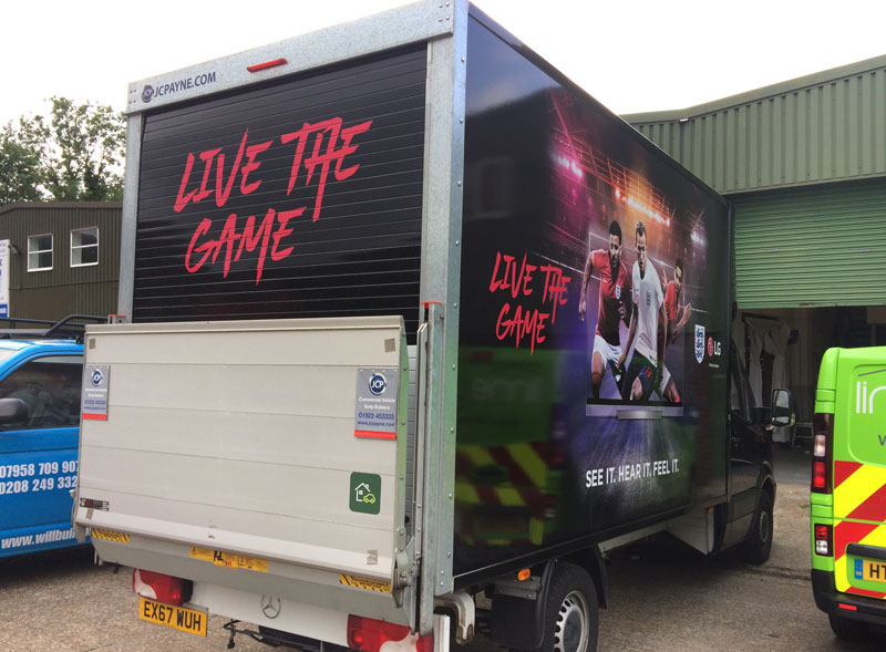 Live the game van decals
