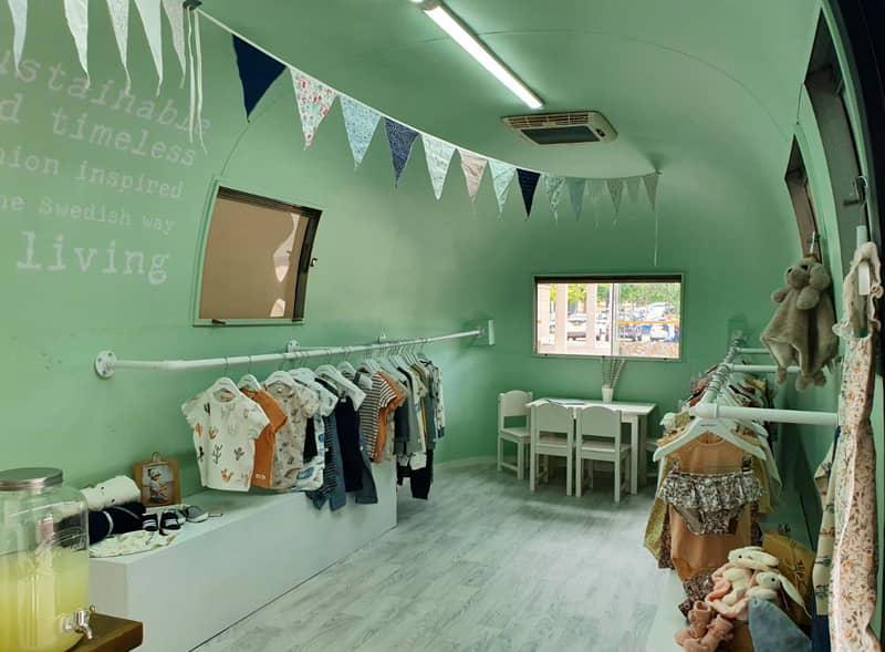 Pop-up retail interior for Newbie clothing