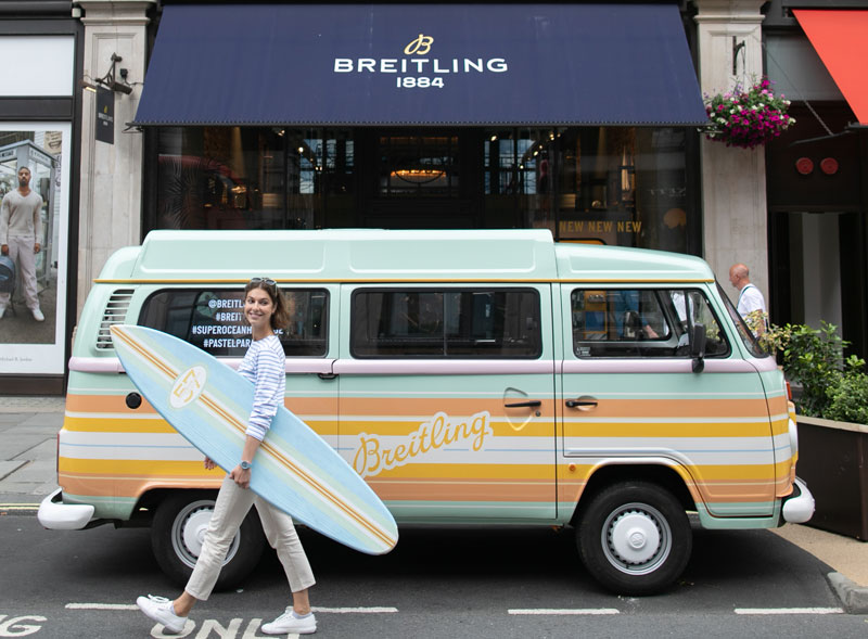 Breitling VW camper van hire for launch campaign