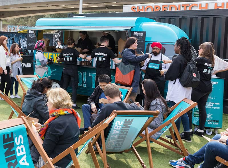 Listerine product launch using an Estafette food truck
