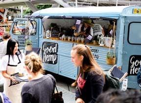 Citroën H-Van hire for Good Hemp food and drink sampling event
