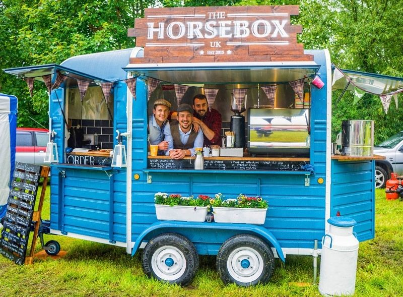 Horsebox UK branded Rice horsebox trailer rental