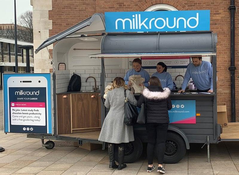 Milkround Horsebox trailer giveaways