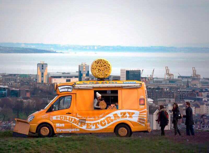 Warburtons crumpet activation using ice cream van
