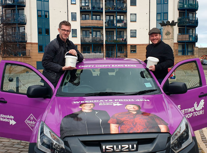 Absolute Radio branded pick up truck tour