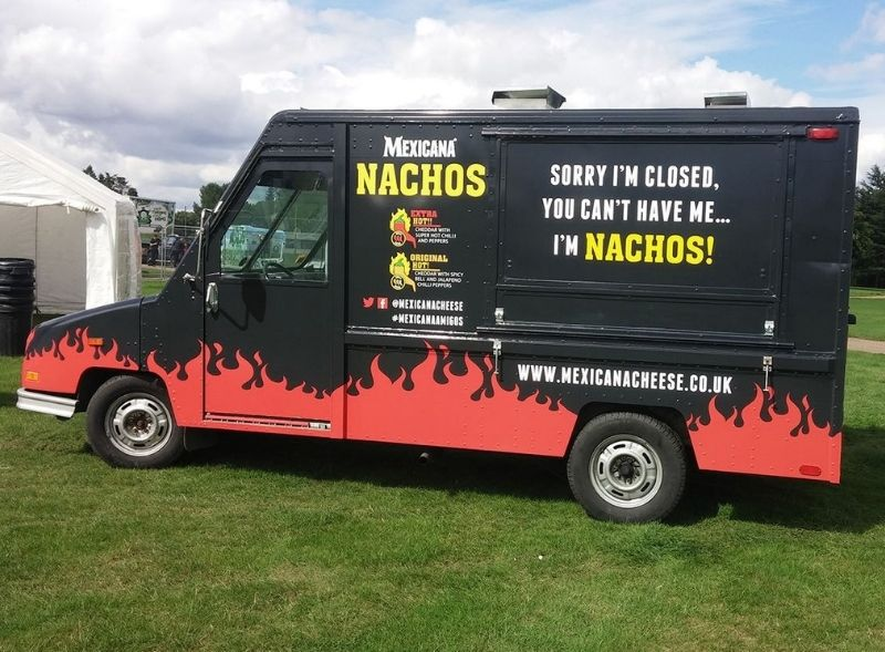 Mexicana Nachos food sampling US Delivery truck