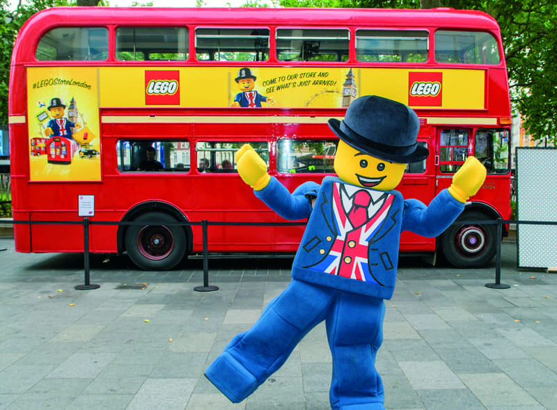 Lego branded Routemaster bus hire