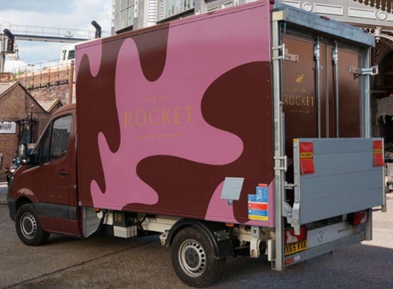 Rocket branded fridge van hire