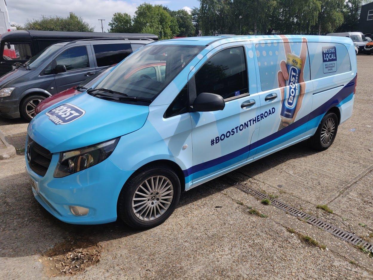 Boost Vehicle Wrap Support Van
