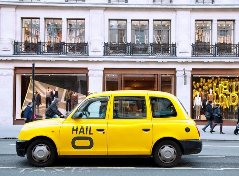 Halo branded black cab rental